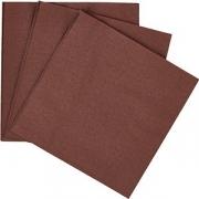 Салфетки 2-х слойн.33*33см «Папирус» [250шт] коричнев.