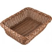 Корзина плетен. для хлеба прям. H=11, L=30, B=40см; коричнев.