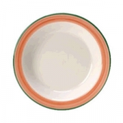 Тарелочка для масла «Рио Пинк», фарфор, D=11,H=2см, белый,розов.