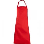 Фартук с грудкой и карманом L=92, B=70см; красный