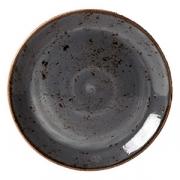 Тарелка мелкая «Крафт», фарфор, D=300,H=26мм, синий