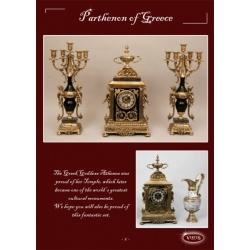 Часы «Греческий пантеон» комбинированные 53х28 см.