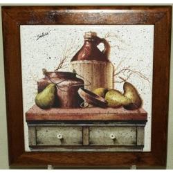 Подставка под горячее из дерева с керамической вставкой «Кухня» 19х19 см