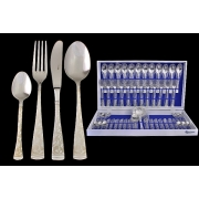 Набор столовых приборов из 51 предмета на 12 персон с серебром «Dubai Argento»