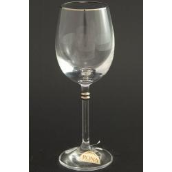 Рюмка для вина 150 мл «Глория» платиновая кайма по краю рюмки и декорация платиной деталей на ножке