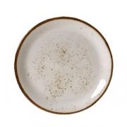 Тарелка мелкая «Крафт», фарфор, D=25см, белый
