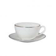 Чашка капуччино 300мл с блюдцем 16см «Вуаль»