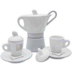Кофеварка гейзерная + 2 кофейные чашки