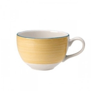Чашка кофейная «Рио Еллоу», фарфор, 85мл, белый,желт.