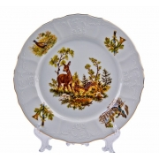 Набор тарелок 25 см. 6 шт «Бернадот Охота»