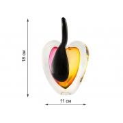 Скульптура для интерьера яблоко крас-жел.выпуклое 18х12 см