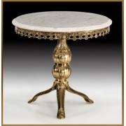 Стол круглый цвет - золото 55х60 см