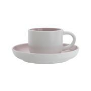 Чашка кофейная с блюдцем Оттенки (розовая) без инд.упаковки