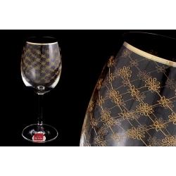 Набор бокалов для вина «Золотая сетка» (6 шт - 250 мл)