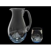 Набор для воды (кувшин+6 стаканов) Кораблик