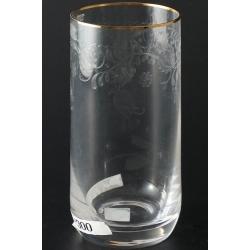 Стакан для воды 300 мл Мириам декор панто+золотая кайма
