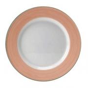 Тарелка сервировочная «Рио Пинк»; фарфор; D=30см; белый,розов.