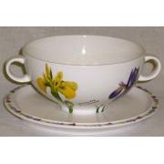 Суповая чашка на блюдце «Ирисы»