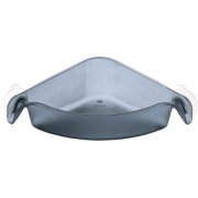 Угловой органайзер/корзина для ванны BOXS Koziol 192 х 192 х 74мм (прозрачный антрацит )