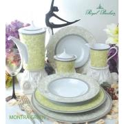 Набор 6 чайных пар 260мл «Монтра Зеленый»