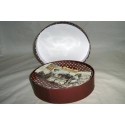 Набор из 4-х тарелок «Любители шоколада» 20 см