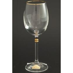 Рюмка для вина 150 мл «Глория» декор золотая кайма по верху рюмка+ отделка золотом деталей на ножке