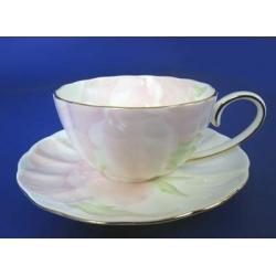 Н 1070011 Ирис ПИНК н-р 250мл чашек чайных с блюдцем 6/12 ИМПЕРИАЛ (зол.лента)