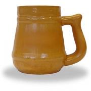 Кружка пивная «Глиняная», керамика, 1.2л, D=11,H=15,L=19см, коричнев.