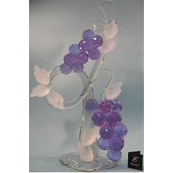 Композиция грозди винограда лиловая 60 см