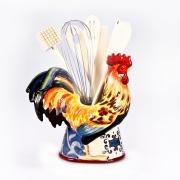 Набор 8 пр.: 7кухонных приборов на подставке-Петухе «Лильский Петух»