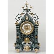 Часы прямоуголн. с маятником цвет - синий 44х25см