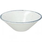 Салатник «Органика» D=22см; белый, синий