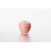 Вазочка с крышкой «Яблоко» 7,5*9 см, цвет: розовый