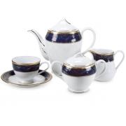 Сервиз чайный 12 перс 41 пр синий