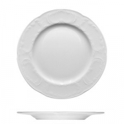 Тарелка мелкая «Моцарт», фарфор, D=20см, белый
