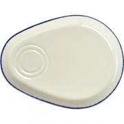 Блюдо-комби «Блю дэппл» L=27.9см; белый, синий