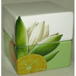 Банка для сыпучих продуктов «Апельсины и кувшинки» 10 см