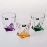Набор стаканов 340 мл. 6 шт «Квадро Цветные»