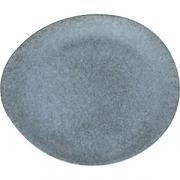 Блюдо круглое «Органика» D=32см; серый