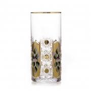 Набор стаканов 350мл.6шт «Хрусталь с золотом»