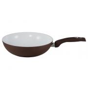 Вок -сковорода 28 см без крышки «Коричневая керамика»