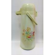 Термос «Полевые цветы» с помпой на 2,5 литра