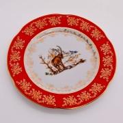 Набор тарелок «Мария - Охота красная» 21 см.