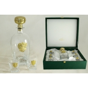 Набор для водки: штоф и 6 стопок «Россия» (золото)