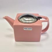 Чайник с ситечком 480мл цвет: Розовый