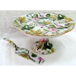 Блюдо для торта на ножке «Ветка сакуры» 24 см