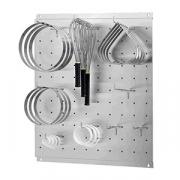 Держатель кухонного инв-ря настенный, сталь нерж., H=3,L=70,B=60см, металлич.