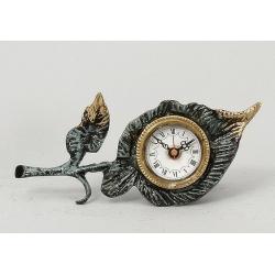 Часы «листок» цвет - синий 8х22см