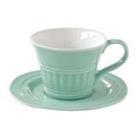 Чашка с блюдцем (мятный) Abitare без индивидуальной упаковки