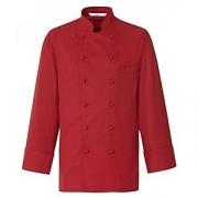 Куртка поварская,разм.56 без пуклей, полиэстер,хлопок, красный
